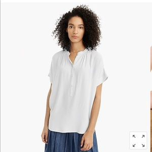 NWT Jcrew point sur Draper popover Shirt ivory